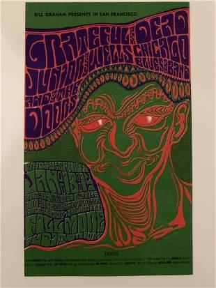 Grateful Dead Doors 1967 BG 45 Fillmore Card