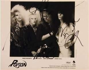 Poison signed promo photo