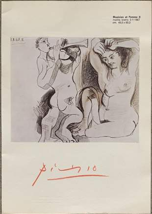 Pablo Picasso signed print flat