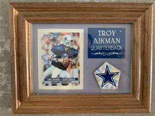 Dallas Cowboys Troy Aikman signed trading card and