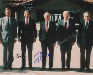5 Presidents signed photo