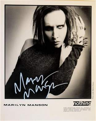 Marilyn Manson signed promo photo