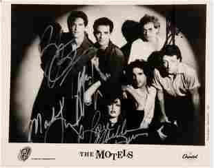 The Motels signed promo photo