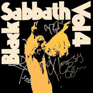 """Black Sabbath signed """"Volume 4"""" album"""