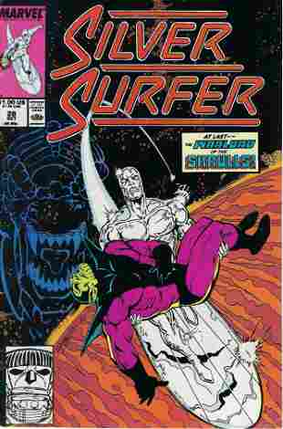 Silver Surfer Marvel Comic Book #28