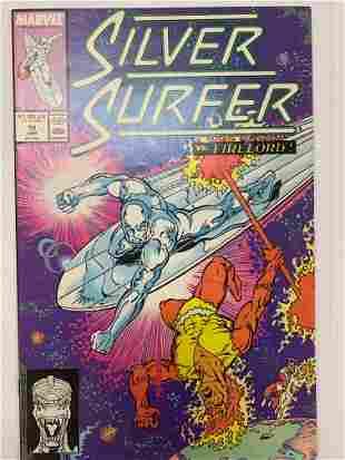 Silver Surfer vs. Firelord Marvel Comic Book #19