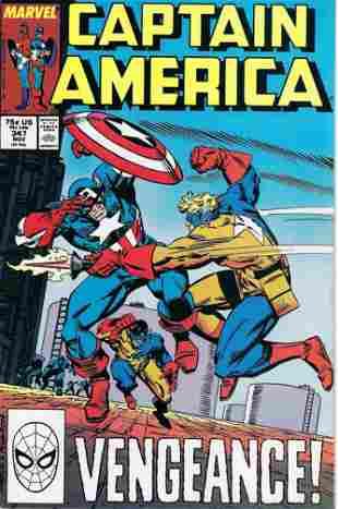 Captain America Marvel Comic Book #347