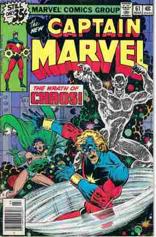 Captain Marvel Marvel Comic Book #61