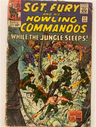 Sgt. Fury and His Howling Commandos Marvel Comic Book