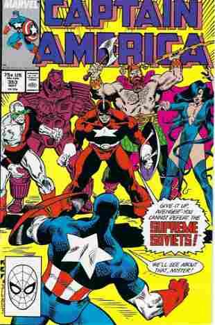 Captain America Marvel Comic Book #353
