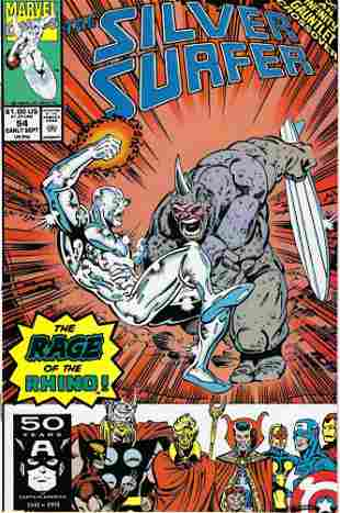 The Silver Surfer Marvel Comic Book #54