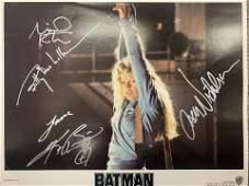 Batman cast signed lobby card
