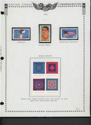2001 United States Commemorative Stamp Set
