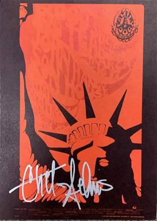 Chet Helms signed postcard