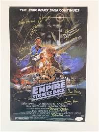 Star Wars The Empire Strikes Back cast signed mini