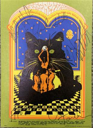 Canned Heat signed postcard