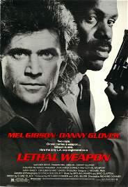 Lethal Weapon 1987 original vintage one sheet poster