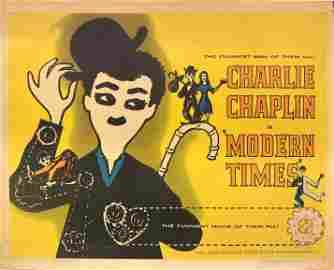 Charlie Chaplin: Modern Times original 1972R vintage
