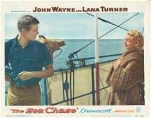 The Sea Chase 1955 original vintage lobby card