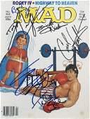 Rocky cast signed 1986 Mad Magazine