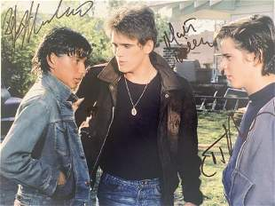 The Outsiders cast signed movie photo