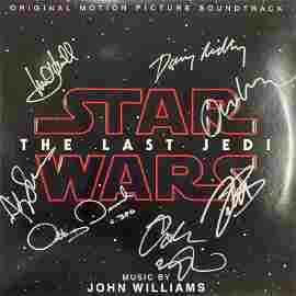 The Last Jedi cast signed sound track