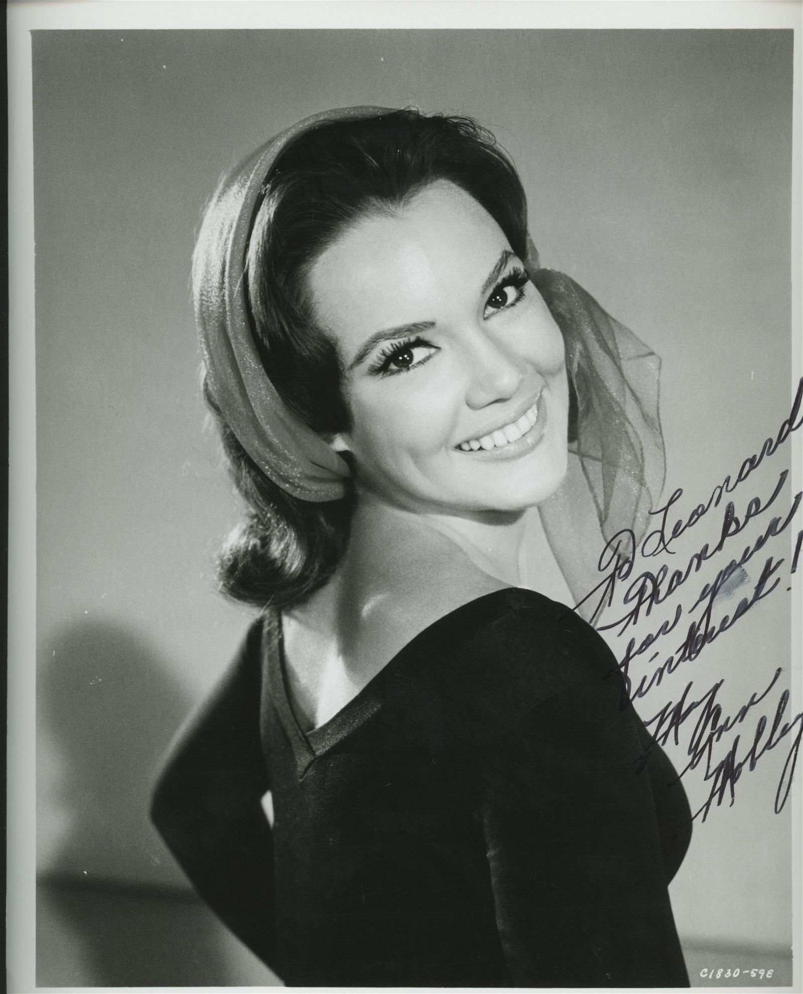 Mary Ann Mobley signed photo