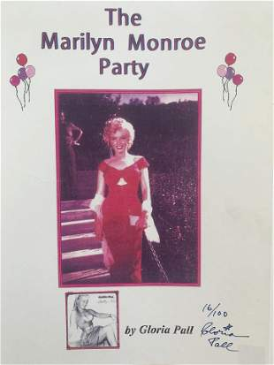 Gloria Pall hand signed The Marilyn Monroe Party
