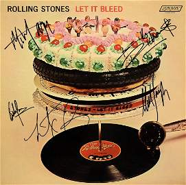 The Rolling Stones signed Let It Bleed album