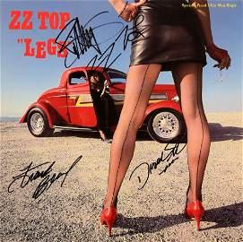 ZZ Top signed 12 inch single album