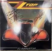 ZZ Top Eliminator signed album