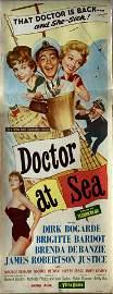 Doctor at Sea 1956 original vintage insert card