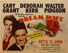 Dream Wife 1953 original vintage lobby card