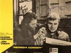 Dustin Hoffman Midnight Cowboy signed lobby card