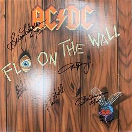 AC/DC Fly On The Wall signed album