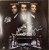 Goodfellas cast signed laser disc