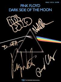 Pink Floyd signed music book