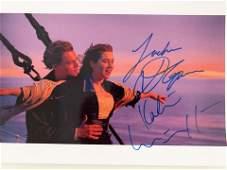 Titanic Leonardo DiCaprio and Kate Winslet Signed Movie