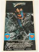 Superman The Movie Cast Signed Mini-Poster