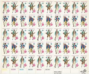 Early American Military Uniform Stamps