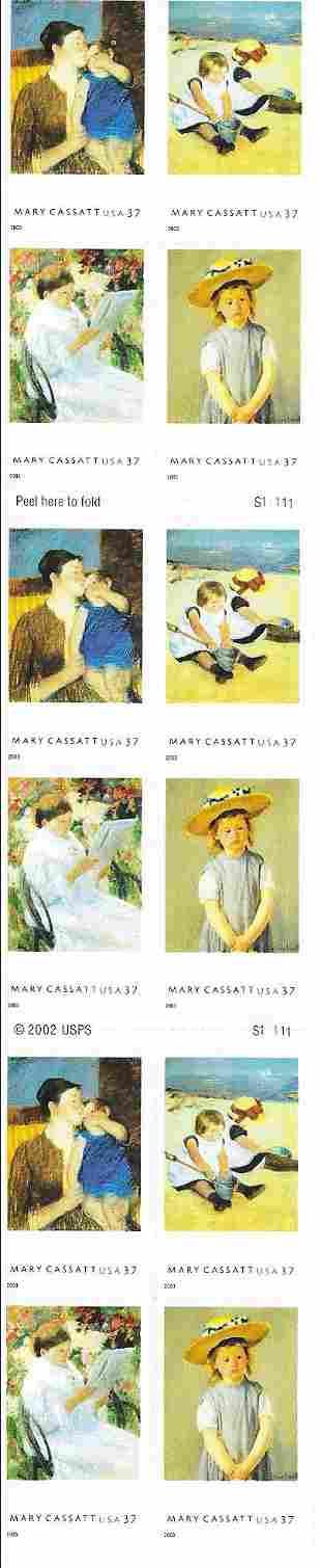 American Treasures - Mary Cassatt USA Stamp Sheet