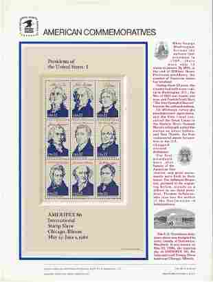 American Commemorative Stamps: Presidents of the United