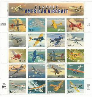 Classic American Aircraft Stamps
