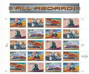 All Aboard! 20th Century American Trains Stamp Set