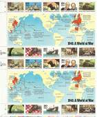 1941 WWII A World At War Stamps