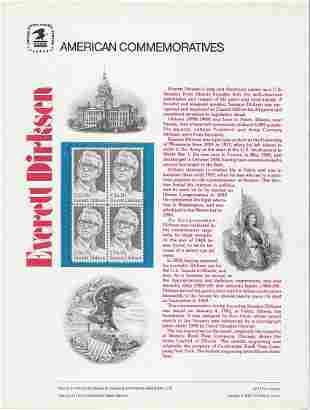 American Commemoratives Everett Dirksen stamp set of