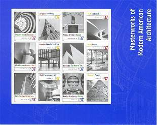 Masterworks of Modern American Architecture Stamps
