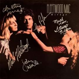 "Fleetwood Mac signed ""Mirage"" album"