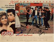 20th anniversary Grease original cast signed lobby card