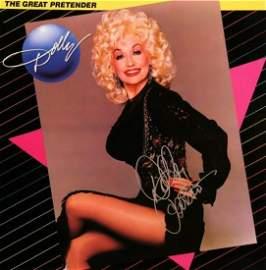 "Dolly Parton signed ""The Great Pretender"" album"